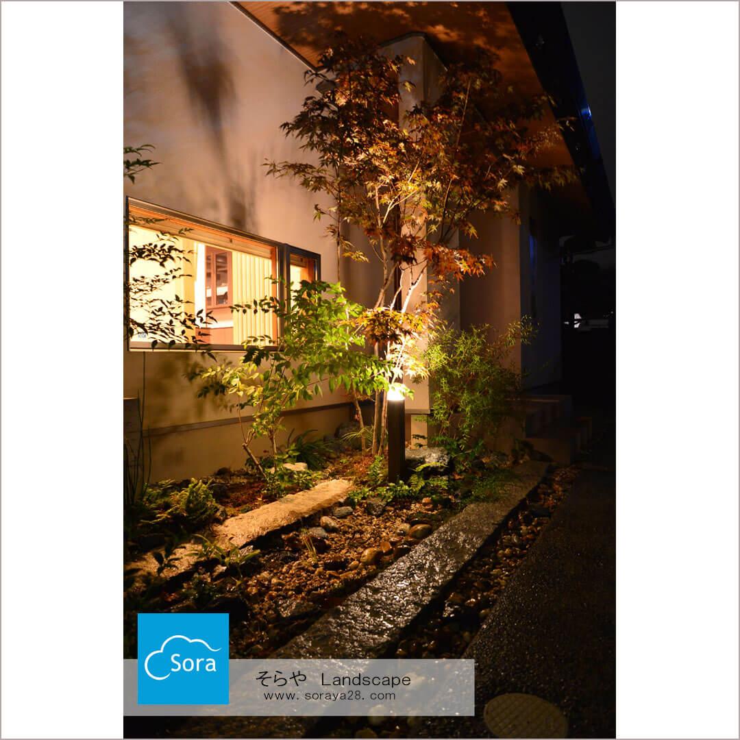 【施工事例】夜のお庭を楽しむライティング