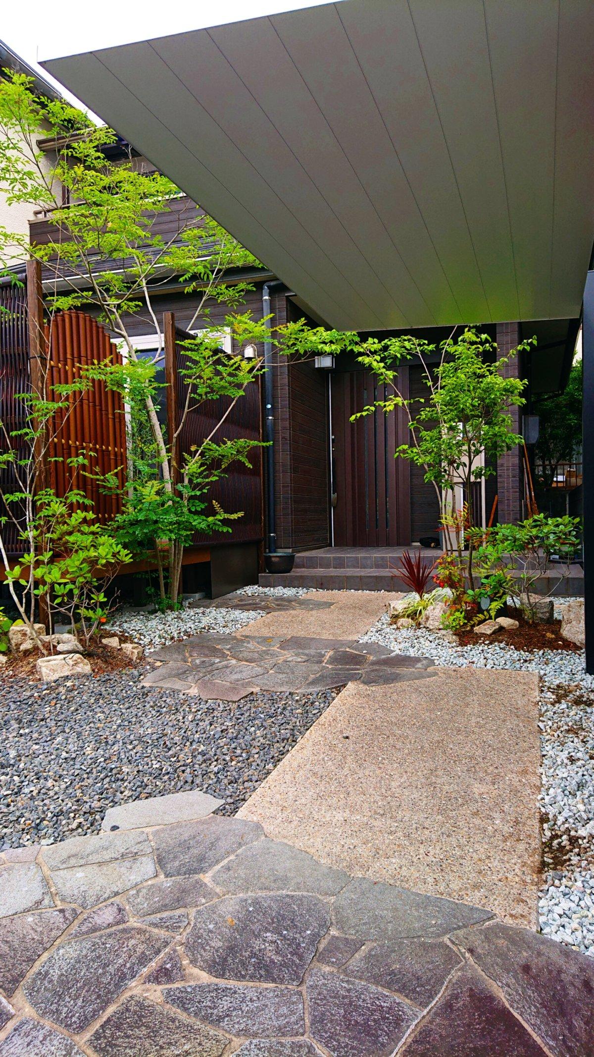 既存を活かしたお庭の施工事例